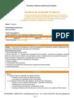 Tableaux de Bord de La Qualite Dynacentrix Sigma Plus