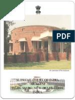 SAMPLE BROCHURE - SUPREME COURT MUSEUM , INDIA