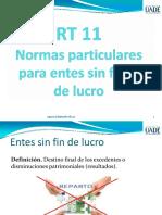 RT 11 Normas particulares de entes sin fines de lucro presentación.