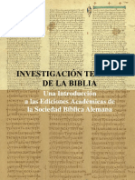 Investigacion Textual de La Biblia OT