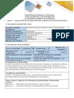 Guía de actividades y Rúbrica de Evaluación Tarea 2 - Elaboración de un guion literario y ejercicio de animación básica