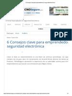 6 Consejos Clave Para Emprendedores en Seguridad Electrónica