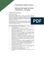 6. Memoria Descriptiva CANAL de RIEGO