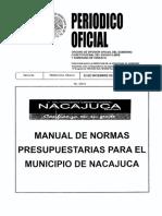 Manual de Normas Presupuestarias de Nacajuca 2012