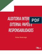 Auditoria Interna e Externa - Papéis e Responsabilidades