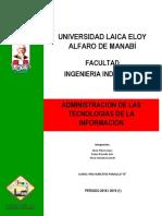 Administracion de Las Tecnologias de La Informacion