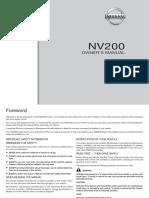 Manual Nissan Nv200