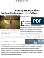 Colleges Are Getting Smarter About Student Evaluations. Here_s How. - The Chronicle of Higher Educat