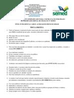 Processo Seletivo Simplificado Serviços Gerais i