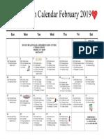 MM Recreation Calendar February 2019