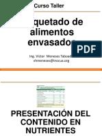 ETIQUETADO DE ALIMENTOS