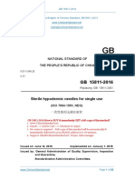 GB 15811-2016 Sterile Hypodermic Needles for Single Use - CHİNA