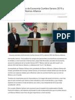 31-01-2019 - Anuncia secretario de Economía Cumbre Sonora 2019 y edición XXVI del Álamos Alliance - Opinionsonora.com