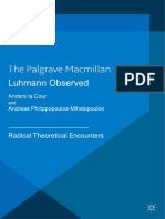 Anders La Cour, Andreas Philippopoulos-Mihalopoulos (Eds.) - Luhmann Observed_ Radical Theoretical Encounters (2013, Palgrave Macmillan UK)