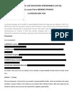 Les statuts de LDV85