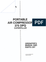 Sullair 375 DPQ Operator Manual y Parts 2003 - 02250049-038(E) 375 CAT