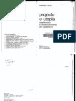 13_A_TAFURI, M. - Projecto e Utopia - As Aventuras Da Razão