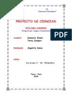 Proyecto Erupcion del  volcan