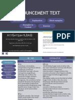 Tugas Media Pembelajaran Announcement-Text-PPT