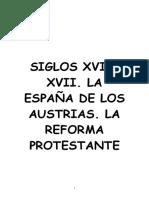 Tema de Historia. Siglos XVI y XVII (Secundaria)