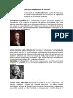 20 Científicos Más Famosos de La Historia