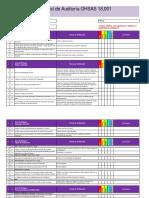 Checklisto de Auditoria de OHSAS 18001