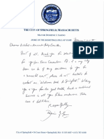 Mayor Domenic Sarno's letter to Gus Bickford