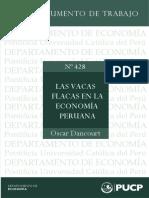 Las Vacas Flacas en La Economia Peruana