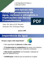 CiclosAguaCarbonoNitrogenio