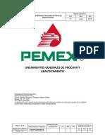Lineamientos Generales de Procura y Abastecimiento
