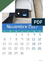 Calendario noviembre 2017