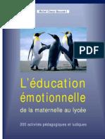 Léducation Émotionnelle de La Maternelle Au Lycée