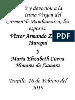 Novena_virgen Del Carmen de Bambamarca