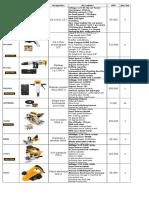 Liste de Prix 2015