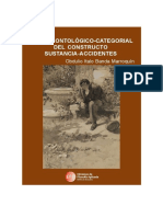 Examen ontológico-categorial del constructo sustancia-accidentes