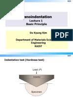 Nano Indentation Lecture1