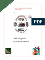 Programa de Seguridad y Salud Ocupacional, Departamento de Transporte y Obras.