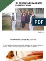 Identificacion Correcta de Pacientes Hospitalizados