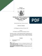 Health and Safety in Employment MiningUnderground Regulations 1999