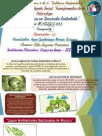 Actividad Integradora 6 de 6 - Políticas Ambientales - Módulo 15 - Prepa en línea - SEP - G-12