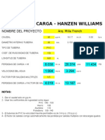 CALCULO HANZEN WILLIAMS