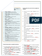 Gerund and Infinitive With Changes of Meaning Grammar Drills Information Gap Activities 83902