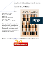 Linear Algebra 4th Edition Stephen 85918001