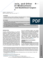 2. Aspirin, Plavix, And Other Antiplatelet Medications What the Oral and Maxillofacial Surgeon Needs to Know