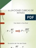 3. Ecuaciones Cubicas de Estado