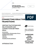 Connecting Ideas Through Transitions – the Writing Center – UW–Madison
