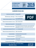 Calendario Escolar 2019-I