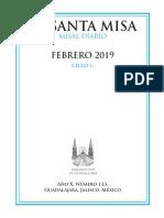 Misal Propio Febrero 2019 JM