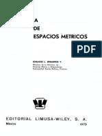 Topología de Espacios Métricos Iribarren