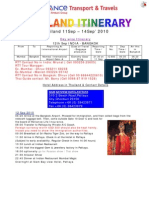 Itinerary IC RLife West 11 Sep-14 Sep BOM-IC